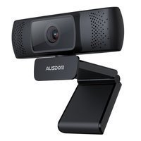 Ausdom webcam Full HD 1080p with microphone for laptop monitor computer black (AF640)
