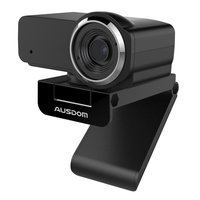 Ausdom webcam Full HD 1080p with microphone for laptop monitor computer black (AW635)