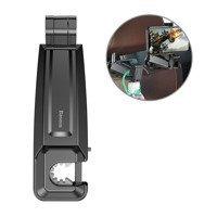 Baseus Car Rear Seat Headrest Phone Bracket Holder hook for 4.0-6.5 inch Smartphone black (SUHZ-A01)