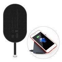 Baseus Microfiber Wireless Charging Receiver QI Receiver with Lightning Plug black (WXTE-A01)