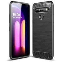 Carbon Case Flexible Cover TPU Case for LG K61 black