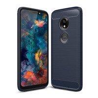 Carbon Case Flexible Cover TPU Case for Motorola Moto G7 Play blue