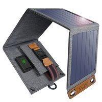 Choetech Foldable Travel Solar Solar Solar Charger 14W with USB 5V / 2.4A Solar Panel Gray (SC004)