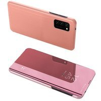 Clear View Case cover for Huawei P Smart 2021 pink
