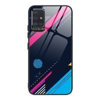 Color Glass Case Durable Cover with Tempered Glass Back and camera cover Samsung Galaxy A71 pattern 4