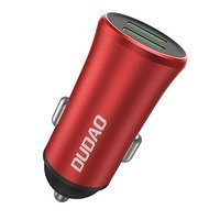Dudao 3,4A Universal Smart Car Charger 2x USB red (R6S red)