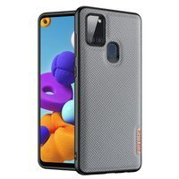 Dux Ducis Fino case covered with nylon material for Samsung Galaxy A21S blue