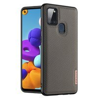 Dux Ducis Fino case covered with nylon material for Samsung Galaxy A21S green