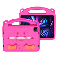 Dux Ducis Panda kids safe soft tablet case for iPad Pro 11'' 2021 / 2020 / 2018 / iPad Air 2020 with a holder for stylus pen pink