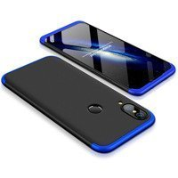 GKK 360 Protection Case Front and Back Case Full Body Cover Huawei P20 Lite black-blue