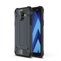 Hybrid Armor Case Tough Rugged Cover for Samsung Galaxy J6 2018 J600 blue