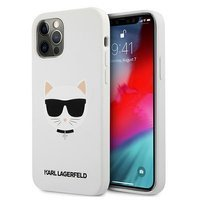 """Karl Lagerfeld KLHCP12LSLCHWH iPhone 12 Pro Max 6.7 """"hardcase white / white Silicone Choupette"""
