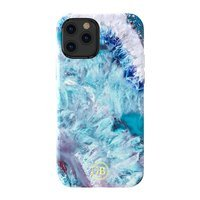 Kingxbar Agate Series case decorated printed Agate iPhone 12 Pro Max blue