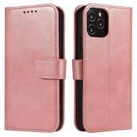 Magnet Case elegant bookcase type case with kickstand for Huawei P40 Lite E pink