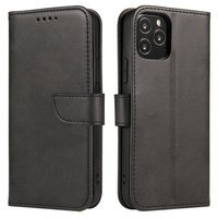 Magnet Case elegant bookcase type case with kickstand for Oppo Reno3 / A91 / F15 black