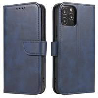 Magnet Case elegant bookcase type case with kickstand for Samsung Galaxy A10 blue