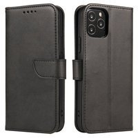 Magnet Case elegant bookcase type case with kickstand for Samsung Galaxy A20s black