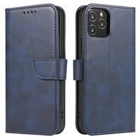 Magnet Case elegant bookcase type case with kickstand for Samsung Galaxy M51 blue