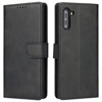 Magnet Case elegant bookcase type case with kickstand for Samsung Galaxy Note 10+ (Note 10 Plus) black