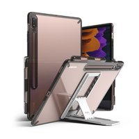 Ringke Fusion Combo Outstanding hard case with TPU frame for Samsung Galaxy Tab S7+ (S7 Plus) + self-adhesive foldable stand grey (FC476R40)