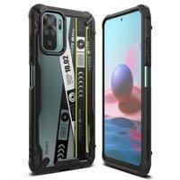 Ringke Fusion X Design durable PC Case with TPU Bumper for Xiaomi Redmi Note 10 / Redmi Note 10S black (Ticket band) (XDXI0029)