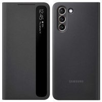 Samsung Clear View Standing Cover with Intelligent Display for Samsung Galaxy S21+ 5G (S21 Plus 5G) black (EF-ZG996CBEGEE)