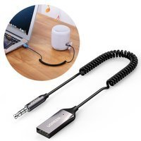 Ugreen USB Wireless Bluetooth 5.0 AUX adapter jack cable black (70601 CM309)