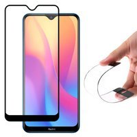 Wozinsky Full Cover Flexi Nano Glass Hybrid Screen Protector with frame for Xiaomi Redmi 8A black