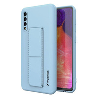 Wozinsky Kickstand Case flexible silicone cover with a stand Samsung Galaxy A50 / Galaxy A30s light blue