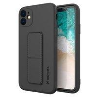 Wozinsky Kickstand Case flexible silicone cover with a stand Samsung Galaxy A51 5G / Galaxy A51 black