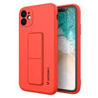 Wozinsky Kickstand Case flexible silicone cover with a stand Samsung Galaxy A51 5G / Galaxy A51 red