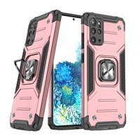 Wozinsky Ring Armor Case Kickstand Tough Rugged Cover for Samsung Galaxy S20+ (S20 Plus) pink