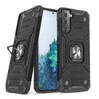 Wozinsky Ring Armor Case Kickstand Tough Rugged Cover for Samsung Galaxy S21 5G black