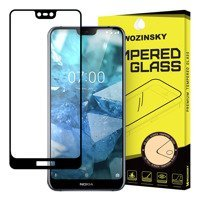 Wozinsky Tempered Glass Full Glue Super Tough Screen Protector Full Coveraged with Frame Case Friendly for Nokia 7.1 black