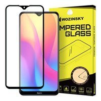 Wozinsky Tempered Glass Full Glue Super Tough Screen Protector Full Coveraged with Frame Case Friendly for Xiaomi Redmi 8A black