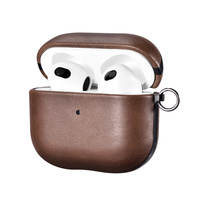 iCarer Leather Crazy Horse natural leather case for AirPods 3 brown (IAP058-BN)