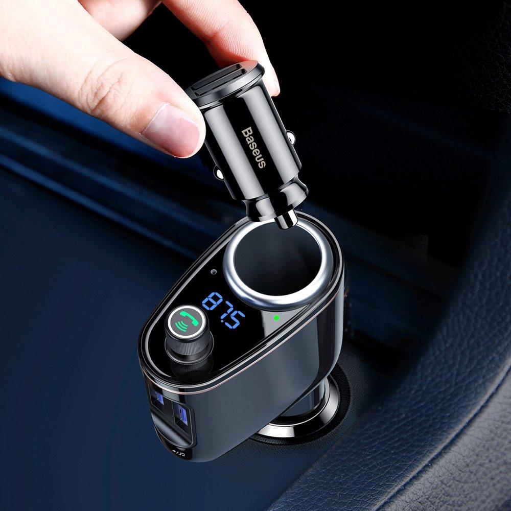 Baseus Locomotive Bluetooth FM Transmitter MP3 Car Charger 2x USB 4