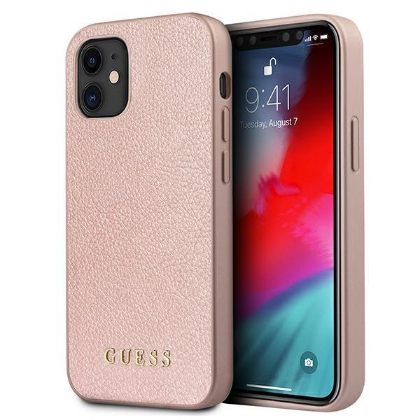 "Guess GUHCP12SIGLRG iPhone 12 mini 5,4 ""rose gold / rose gold hardcase Iridescent"