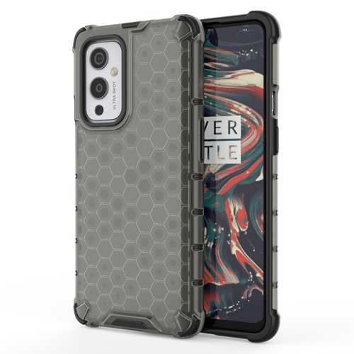 Honeycomb Case armor cover with TPU Bumper for OnePlus 9 black