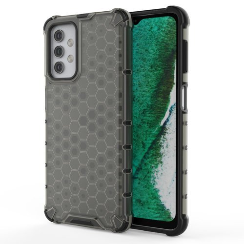 Honeycomb Case armor cover with TPU Bumper for Samsung Galaxy A32 5G black