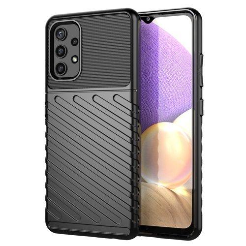 Thunder Case Flexible Tough Rugged Cover TPU Case for Samsung Galaxy A72 4G black