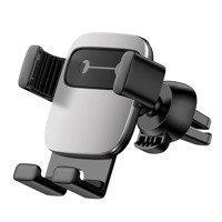 Baseus Cube grawitacyjny uchwyt samochodowy na kratkę wentylacyjną nawiew na telefon srebrny (SUYL-FK0S)