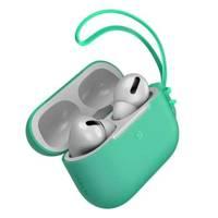 Baseus Let''s go AirPods Pro Case silikonowe etui na słuchawki AirPods Pro + mini smycz zielony (WIAPPOD-D06)