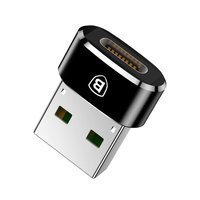 Baseus adapter przejściówka ze złącza USB Type-C na USB czarny (CAAOTG-01)