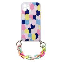 Color Chain Case żelowe elastyczne etui z łańcuchem łańcuszkiem zawieszką do iPhone 11 wielokolorowy