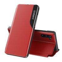 Eco Leather View Case elegancki futerał etui z klapką i funkcją podstawki Samsung Galaxy Note 10 czerwony