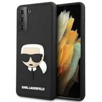 Karl Lagerfeld KLHCS21MKH3DBK S21+ G996 czarny/black hardcase 3D Rubber Karl`s Head