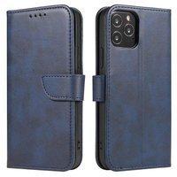 Magnet Case elegancki futerał etui pokrowiec z klapką i funkcją podstawki Samsung Galaxy A11 / M11 niebieski