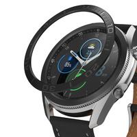 Ringke Bezel Styling etui ramka koperta pierścień Samsung Galaxy Watch 3 45 mm czarny (stal nierdzewna) (GW3-45-08)