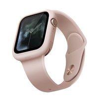 UNIQ etui Lino Apple Watch Series 4/5/6/SE 44mm. różowy/blush pink